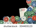 playing cards and poker chips...   Shutterstock . vector #334403123
