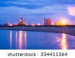 factory nature twilight | Shutterstock . vector #334411364