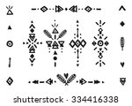 hand drawn tribal collection... | Shutterstock .eps vector #334416338