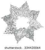 mandala zentangle and doodle... | Shutterstock .eps vector #334420064