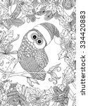 coloring book for adult and... | Shutterstock .eps vector #334420883