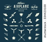 Abstract Vector Airplane Label...