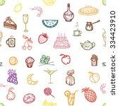 vector illustration.seamless... | Shutterstock .eps vector #334423910