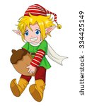 cartoon illustration of an elf | Shutterstock .eps vector #334425149