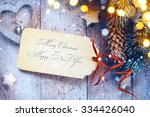 christmas background with tree... | Shutterstock . vector #334426040