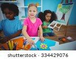 happy kids doing arts and... | Shutterstock . vector #334429076