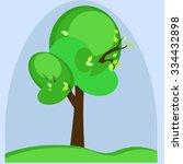 tree against the sky. one... | Shutterstock .eps vector #334432898