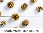 Golden Pine Cones Christmas...