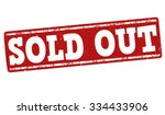sold out grunge rubber stamp on ... | Shutterstock .eps vector #334433906