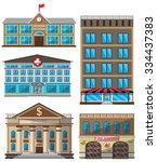 Vector Set Of Flat Buildings...