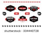 black friday retro vintage... | Shutterstock .eps vector #334440728