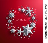 christmas and new years red...   Shutterstock .eps vector #334443590