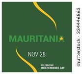 the day of mauritania   vector...   Shutterstock .eps vector #334446863