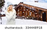 winter  vacation  christmas and ... | Shutterstock . vector #334448918