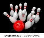 Bowling Ball And Skittles...