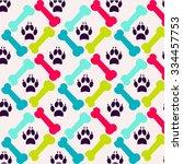 bright pattern made of bones... | Shutterstock .eps vector #334457753
