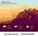 mining quarry | Shutterstock .eps vector #334460828