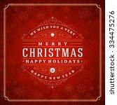christmas greeting card lights... | Shutterstock .eps vector #334475276