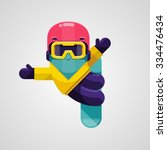 vector image of a snowboarder... | Shutterstock .eps vector #334476434