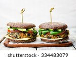 vegan quinoa eggplant spinach... | Shutterstock . vector #334483079