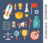 set of vector icons and... | Shutterstock .eps vector #334483448