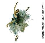watercolor ballerina   Shutterstock . vector #334485494