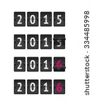 set of four countdown timers... | Shutterstock .eps vector #334485998
