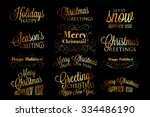merry christmas and happy new... | Shutterstock .eps vector #334486190