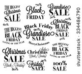 black friday calligraphic... | Shutterstock .eps vector #334486790