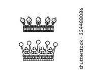 vector silhouette royal crown... | Shutterstock .eps vector #334488086