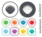 shell icon.  | Shutterstock .eps vector #334498229