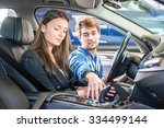 mechanic  demonstrating and... | Shutterstock . vector #334499144