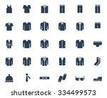 men's clothing vector icon set | Shutterstock .eps vector #334499573