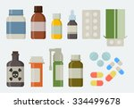 medicine and drugs icon set in... | Shutterstock .eps vector #334499678