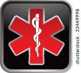 caduceus medical symbol on... | Shutterstock .eps vector #33449998