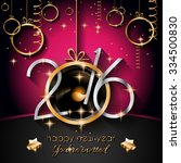 2016 happy new year and merry... | Shutterstock . vector #334500830