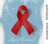 realistic curved red ribbon on... | Shutterstock .eps vector #334501649