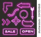 neon signs  | Shutterstock .eps vector #334504868
