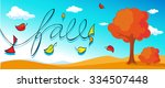 autumn design banner with... | Shutterstock .eps vector #334507448