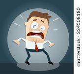 funny cartoon man caught in... | Shutterstock .eps vector #334508180