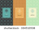 vector set of design elements... | Shutterstock .eps vector #334510538