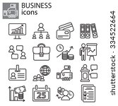 web icons set   business | Shutterstock .eps vector #334522664