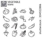 web icons set   vegetables | Shutterstock .eps vector #334522886