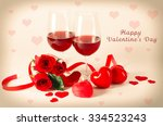 composition with red wine in... | Shutterstock . vector #334523243