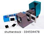 retro cine projector on the... | Shutterstock . vector #334534478