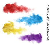 set of color smoke explosions... | Shutterstock . vector #334538519