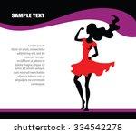 superwoman page design   vector ... | Shutterstock .eps vector #334542278