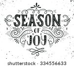 season of joy. christmas retro... | Shutterstock .eps vector #334556633