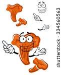 forest orange chanterelle...   Shutterstock .eps vector #334560563