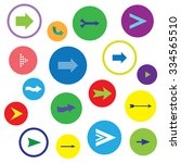 arrow icon set  rounded vector...